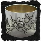 Art Nouveau Mistletoe design napkin ring in silver